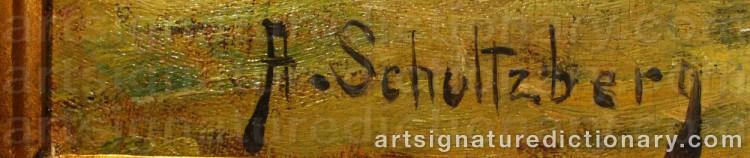 Signature by Anshelm SCHULTZBERG