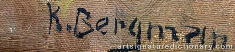 Signature by Karl BERGMAN
