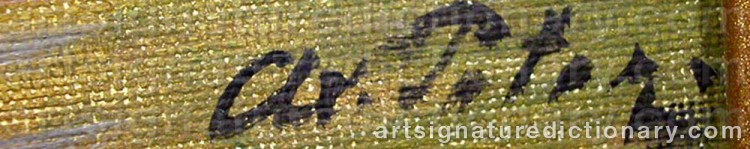 Signature by Axel PETER