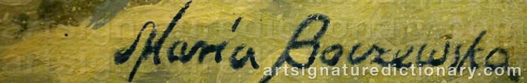 Signature by Maria BOCZEWSKA