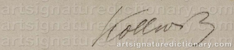 Signature by Käthe KOLLWITZ