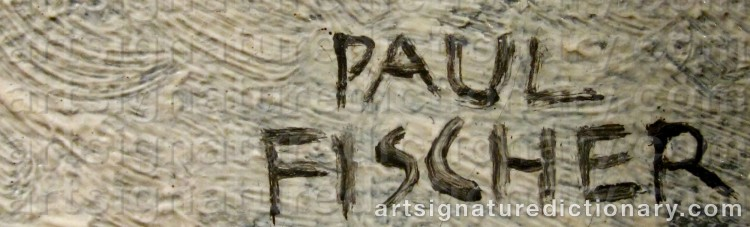 Signature by Paul FISCHER