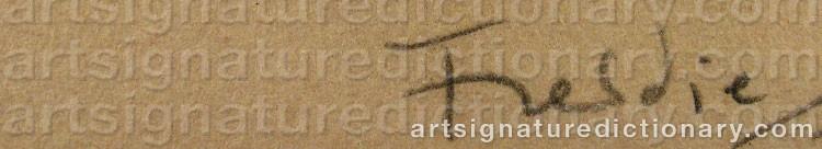 Signature by Wilhelm FREDDIE