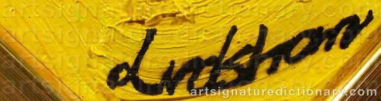 Forged signature of Bengt LINDSTRÖM