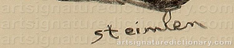 Signature by Théophile Alexandre STEINLEN