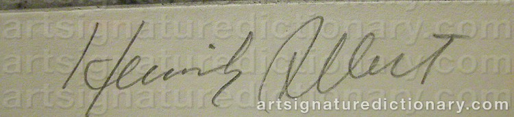 Signature by Henrik ALLERT