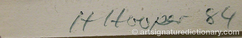 Signature by Harold HOOPER