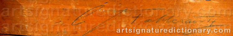 Signature by Carl Johan FAHLCRANTZ
