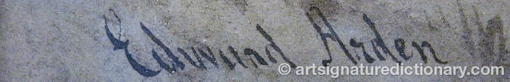 Signature by Edward ARDEN