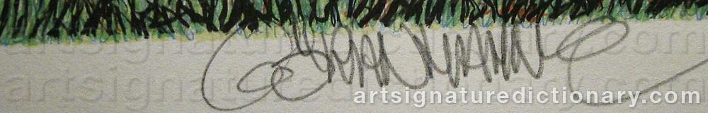 Signature by Göran HAHNE
