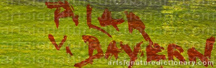 Signature by Maria DEL PILAR VON BAYERN