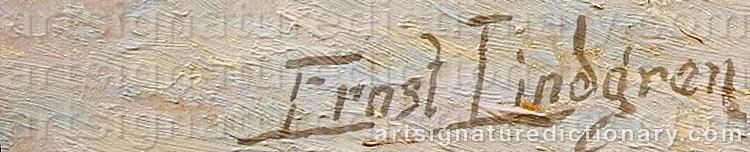 Signature by Ernst LINDGREN