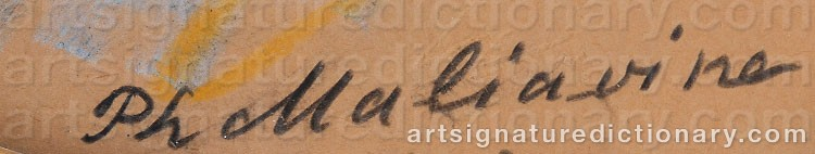 Signature by Filip Andreevich MALIAVIN