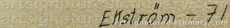 Signature by Thea EKSTRÖM