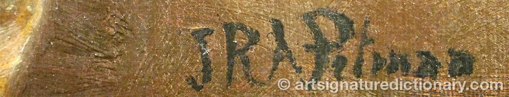 Signature by J.r.a PITMAN