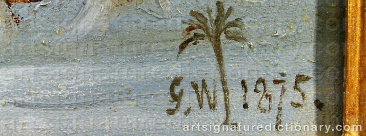 Signature by Gustaf Wilhelm PALM