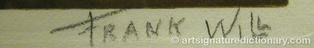 Signature by Frank WILL