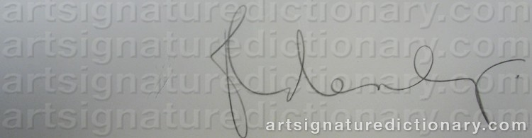 Signature by Claes OLDENBURG