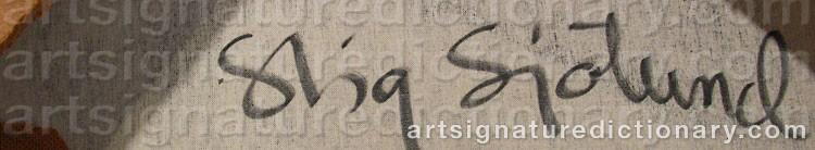 Signature by Stig SJÖLUND
