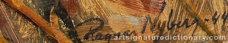 Signature by Ragnar NYBERG