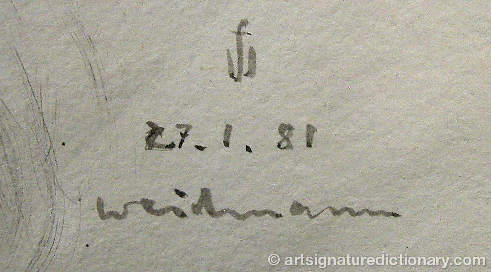 Signature by Fred WEIDMANN