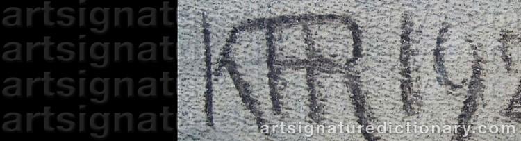 Signature by Karl Frederik HANSEN-REISTRUP