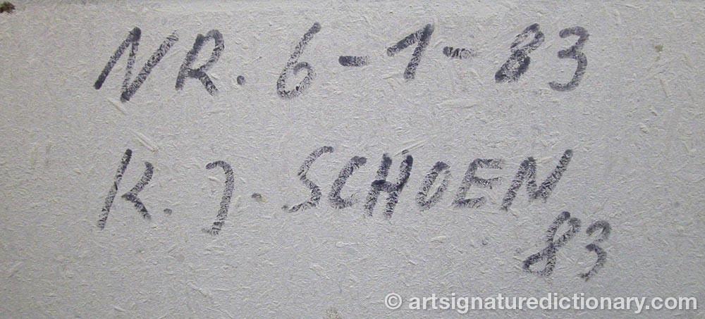 Signature by Klaus J. SCHOEN