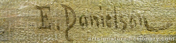 Forged signature of Elin 'E Dson' DANIELSON-GAMBOGI