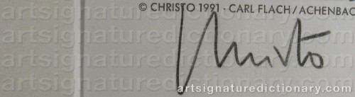 Signature by: JAVACHEFF, Christo