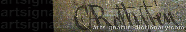 Signature by Carl Abraham ROTHSTÉN