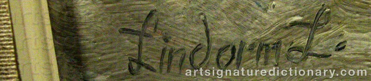 Forged signature of Lindorm LILJEFORS