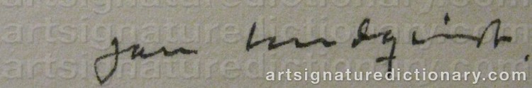 Signature by Jan LUNDQVIST