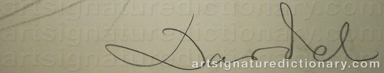 Signature by Nils Von DARDEL