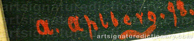 Signature by Arvid AHLBERG