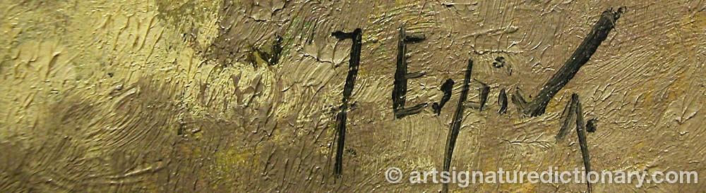Signature by Juan ESPINA Y CAPO