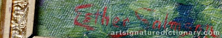 Signature by Esther SALMSON