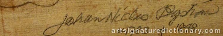 Signature by Johan Niclas BYSTRÖM