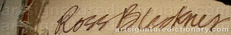 Signature by Ross BLECKNER