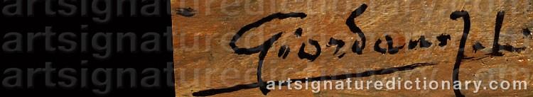 Signature by Felice GIORDANO