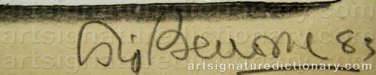 Signature by Sigvard BERNADOTTE