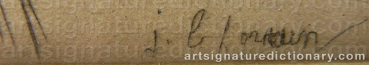 Signature by Jean Louis FORAIN