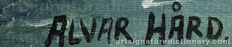 Signature by Alvar HÅRD