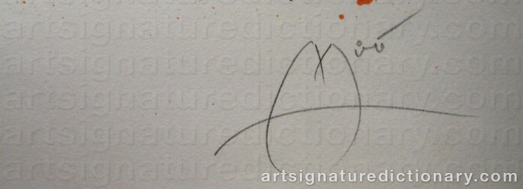 Forged signature of Joan MIRO