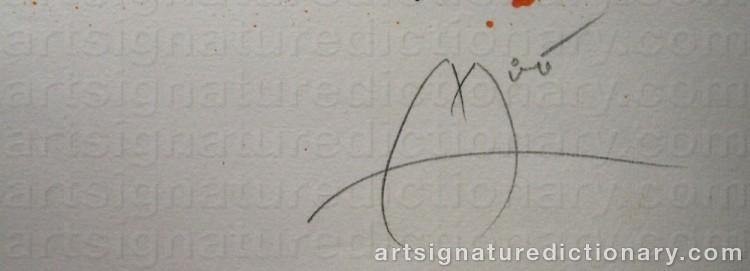 Forged signature of Joan MIRO