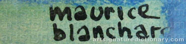 Signature by Maurice BLANCHARD