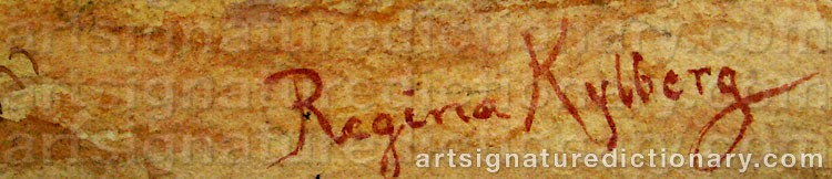 Signature by Regina KYLBERG-BOBECK