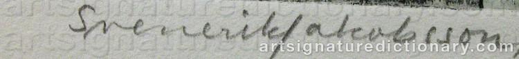 Signature by Svenerik JAKOBSSON