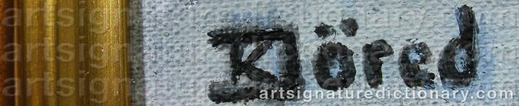 Signature by Kristina JÖRED