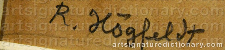 Signature by Robert HÖGFELDT