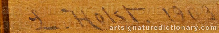 Signature by Lauritz Bernhard HOLST